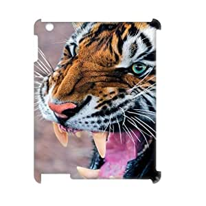 LaiMc Customized Cell Phone 3D Case Cover for iPad2,3,4 with DIY Design Tiger