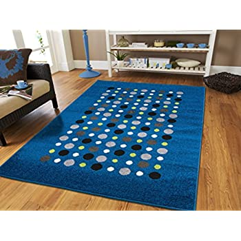 Amazon Com New Fashion Luxury Blue Floor Rugs For Living