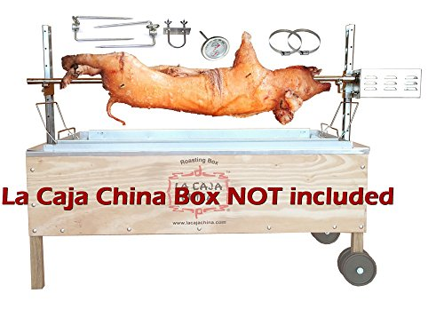 Pig, Hog, and Lamb Spit Roast Rotisserie Pit Kit for La Caja China Box - CJC50 by SpitJack