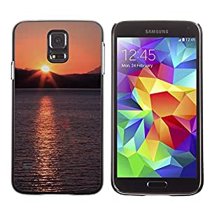Hot Style Cell Phone PC Hard Case Cover // M00309212 Alaska Ocean Sunset Water Sea // Samsung Galaxy S5 S V SV i9600 (Not Fits S5 ACTIVE)