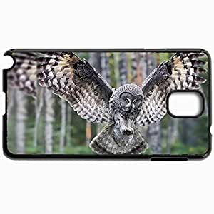 Customized Cellphone Case Back Cover For Samsung Galaxy Note 3, Protective Hardshell Case Personalized Bird Black