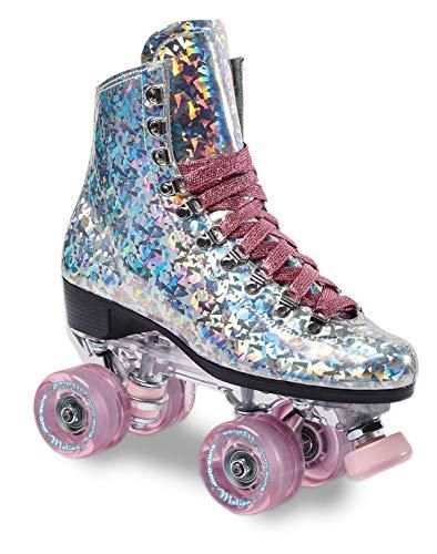 Sure-Grip Prism Roller Skates (Pink Confetti, Mens 6 / Womens 7-7.5)