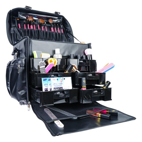 Shany Makeup Artist Soft Rolling Trolley Cosmetic Case