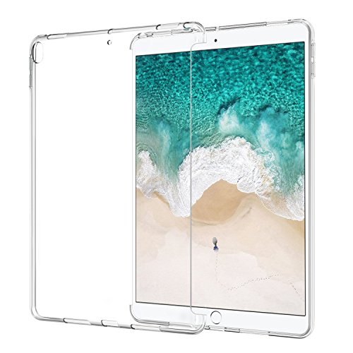 ATiC Case for iPad Pro 10.5, Premium Soft Transparent TPU Rubber Back Cover Skin Flexible Bumper for Apple iPad Pro 10.5