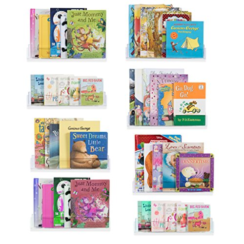 Wallniture Nursery Bookshelf Acrylic Floating Shelves Invisi