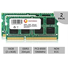 16GB Kit 2X 8GB SODIMM Apple iMac Late 2009 PC3-8500 A1311 MB950LL/A Memory Ram by CENTERNEX