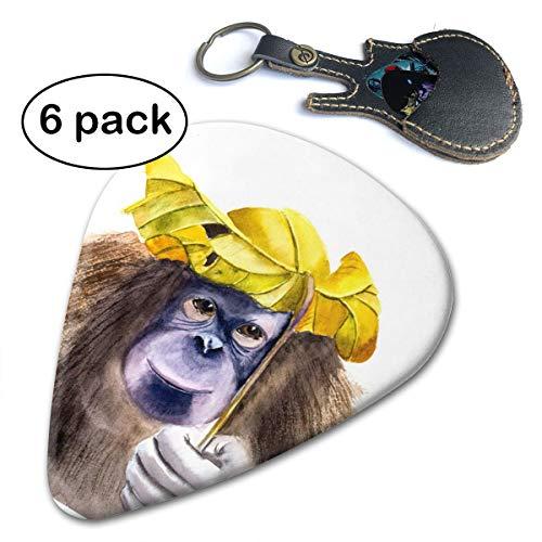 Ivanfield Funny Watercolor Monkey Jungle Guitar Picks 6-Pack ()