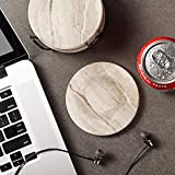 LIFVER Drink Coasters with Holder, Absorbent