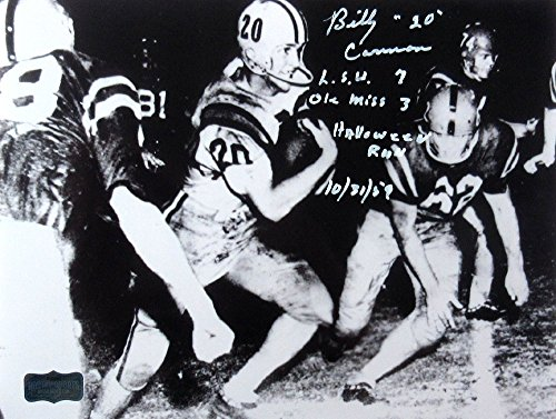 Billy Cannon Autographed/Signed LSU Tigers Iconic 8x10 B&W Photo with