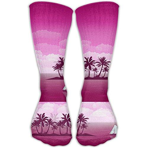 WOAINI666 Seaside Coconut Tree Unisex Crew Socks Short Sports Socks 1 Pair from Unknown