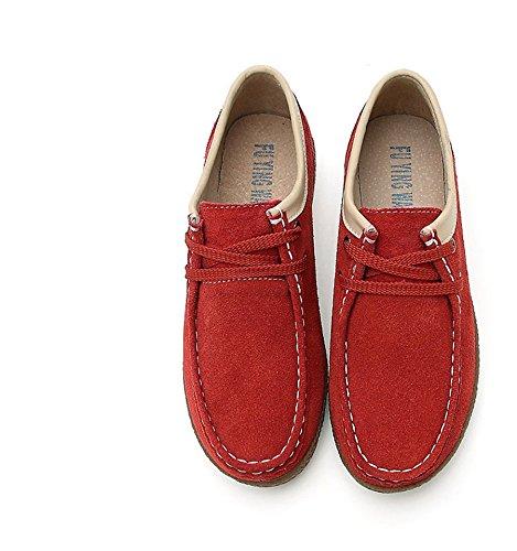 Talon Chaussure à Epissage Chaussure Confortable Chaussure Enfiler Automne à Mode en Suède Plat Casual Plateforme JRenok cTq8wvPP