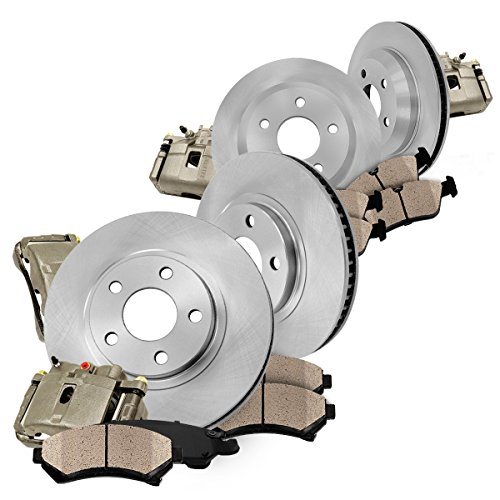 Brake Chrysler Caliper Sebring (CCK03039 FRONT + REAR [4] Loaded OE Calipers + [4] OE Brake Rotors + Quiet Low Dust [8] Ceramic Pads Premium Kit)