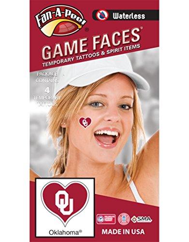 Oklahoma Peel - Fan A peel NCAA Oklahoma Sooners 4-Pack I Love My U Temporary Tattoos