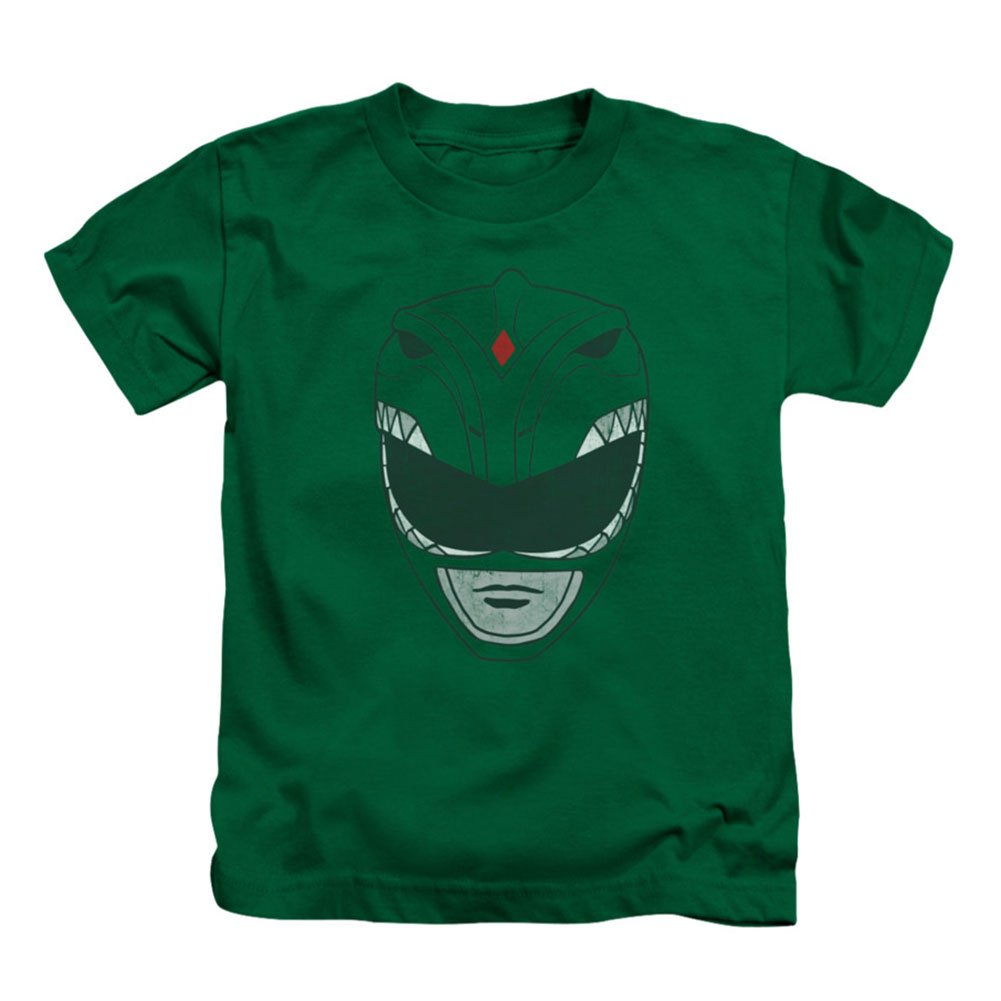 Power Rangers Juvenile T-Shirt Green Ranger helmet design