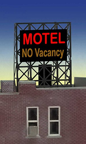 33-8975 N & Z Motel No Vacancy animated neon billboard by Miller Signs