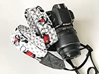 Mickey Mouse Camera Strap for dslr cameras (black and white)