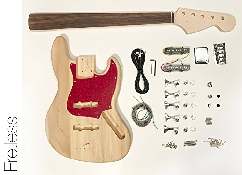 DIY Electric Bass Guitar Kit - Fretless 5 String J Bass Build Your ()