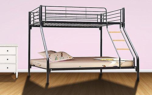 Dirty Pro Tools™ Brand Triple Sleeper Bunk Bed Metal Single Double Triple 3 Children's Bunk Bed (Black)