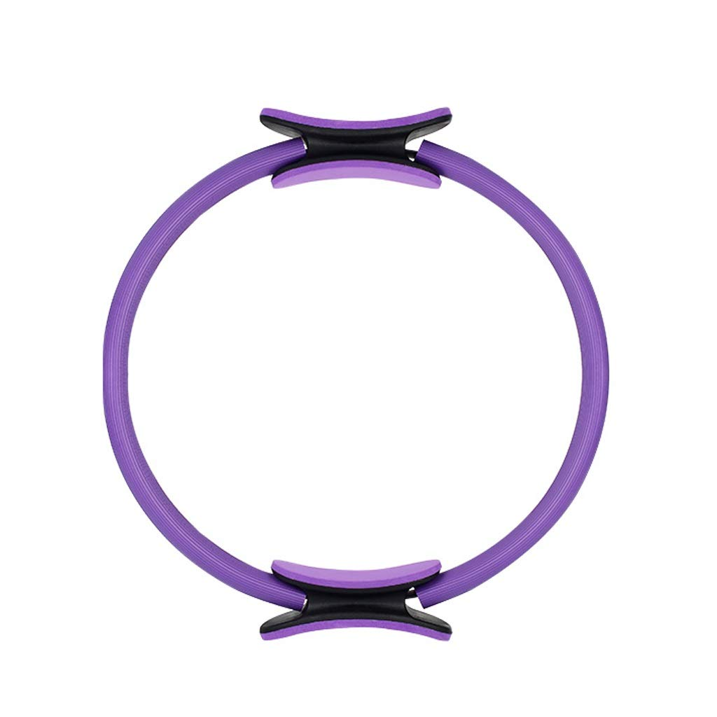Magic Circle, Double Handle Exercise Yoga Ring 37cm Exercise Circle,for Abs Thighs and Legs,for Fat Burnning Core Training Physical Therapy (Color : Purple)