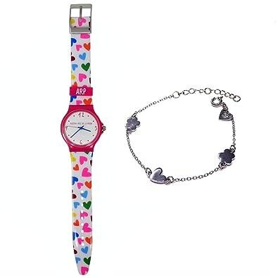 Juego Agatha Ruiz de la Prada reloj AGR240 pulsera plata [AB9831] - Modelo: