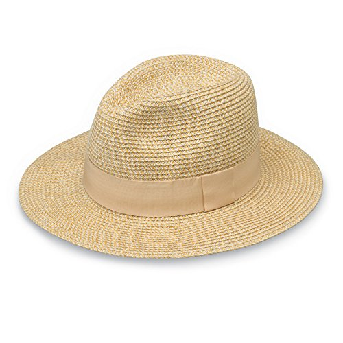 Wallaroo Womens Josie Sun Hat - Lightweight and Breathable Sun Hat - UPF 50+ (White/Beige)