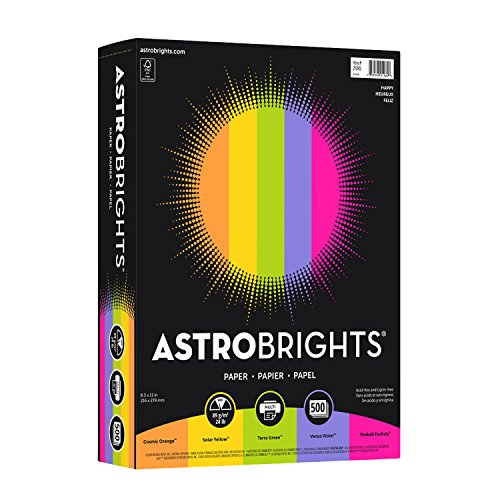 5 Color Printer (Neenah Astrobrights Premium Color Paper Assortment, 24 lb, 8.5 x 11 Inches, 500 Sheets, Happy)