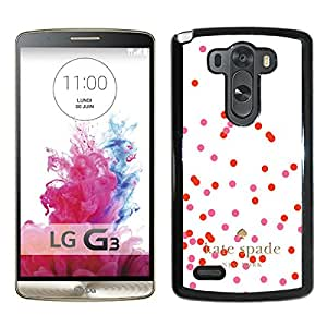 Beautiful DIY Designed Kate Spade Cover Case For LG G3 Black Phone Case 251