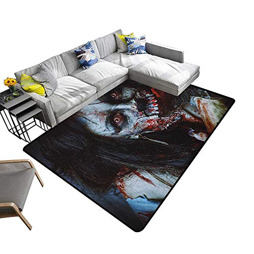Zombie Indoor Floor mat Scary Dead Woman with a Bloody Axe Evil Fantasy Gothic Mystery Halloween Picture 78