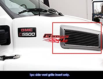 APS Compatible with 2003-2009 Chevy Kodiak C4500 C5500 Commercial Truck Stainless Billet Grille N19-S13668C