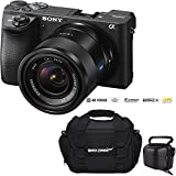 Sony a6500 ILCE-6500 4K Mirrorless APS-C Digital Camera with 24mm f/1.8 (SNSEL24F18Z) E-Mount Lens - Black