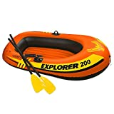 Intex. Explorer 200, 2-Person Inflatable Boat Set with French Oars and Mini Air Pump (Limited Edition)