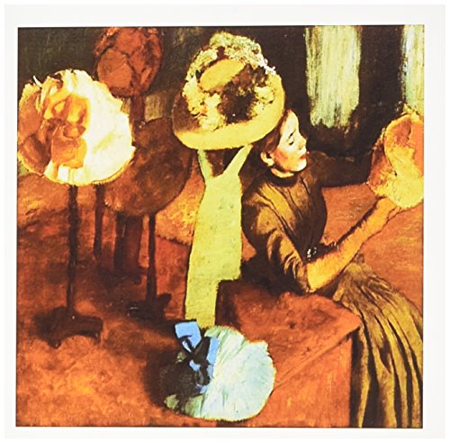 3dRose Photo Of 1884 Painting The Millinery Shop Edgar Degas - Greeting Cards, 6 x 6 inches, set of 12 (gc_100892_2)
