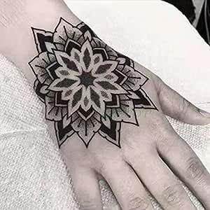 tzxdbh 3 Piezas Impermeables Tatuajes temporales de Tatuajes Flor de Rosa Mano Arte Tatuajes Tatoo para Mujeres Hombres 3pcs-4: Amazon.es: Hogar