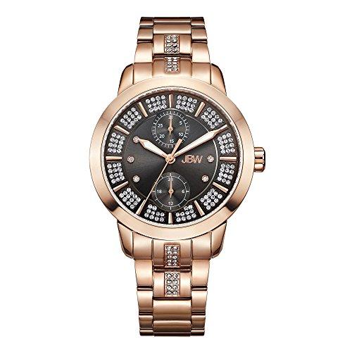 JBW Women's Lumen J6341A Rose Gold Multi-Function Diamond Watch