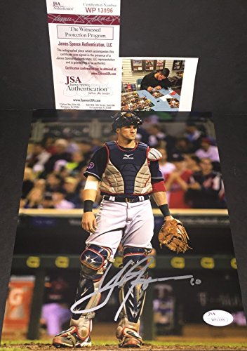 yan-gomes-cleveland-indians-autographed-signed-8x10-catching-jsa-witness-coa