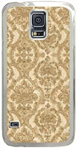 Aubin-Damask Samsung Galaxy S5 Case with Transparent Skin I9600 Hard Shell Cover