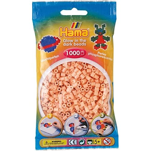 1 000 perles standard (Ø5 mm)- phosphorescent rose - Hama