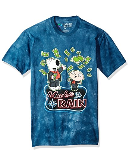 - Liquid Blue Unisex-Adult's The Family Guy Make It Rain Money Tie Dye Ss T-Shirt, X-Large