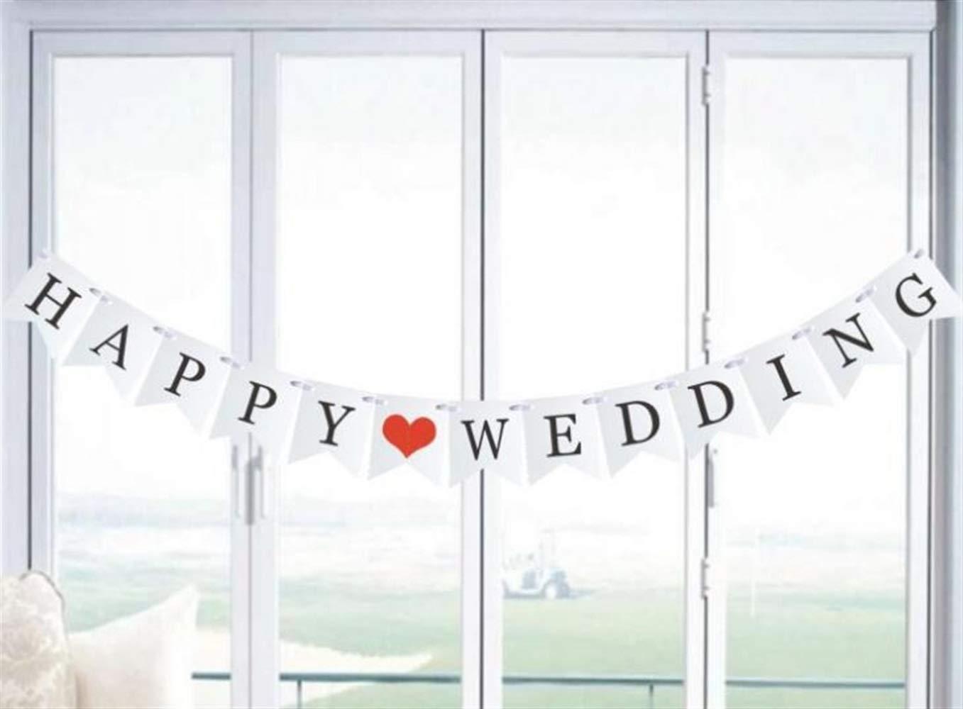 ZoraQ Kinderparty-Dekor Fischschwanz Retro kreative Lahua Flagge Bühne Geburtstag Party Hochzeit Dekoration (Happy Hochzeit)