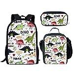 FANCOSAN Cartoon Animal Backpack Teen Boys Girls School Book bag with Lunch Box Pen Case 3 in 1