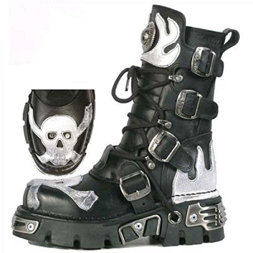 New Rock Boots M.156-c2 Gotico Hardrock Punk Unisex Stiefel Schwarz