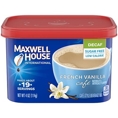 Maxwell House International Cafe Instant French Vanilla Coffee (4 oz Canisters, Pack of 4) (Best French Supermarket Snacks)