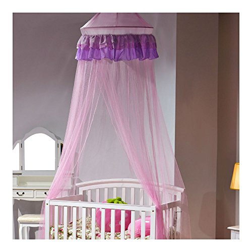Elegant Lace Bed Mosquito Netting Mesh Canopy Princess Round Dome Bedding Net from Unknown