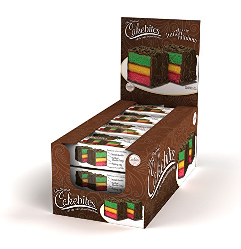 The Original Cakebites Classic Italian Rainbow Cake - 12 count