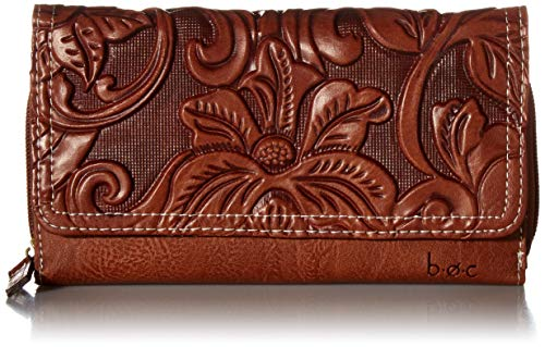 b.o.c. Womens Millstone Deluxe Wallet Saddle One Size ()