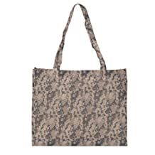 "DALIX 20"" ACU Large Square Digital Reuseable Shopping Tote Bag in Gray Camouflage"