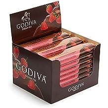 Godiva Chocolatier Belgium Milk Chocolate Strawberry Bar Gift, 24 Count