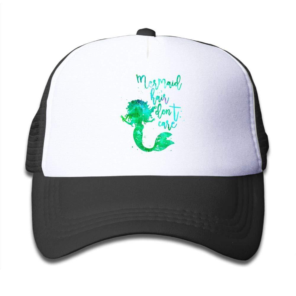 Clarissa Bertha Mermaid Hair Dont Care Kids Boys Girls Baseball Caps Mesh Hats