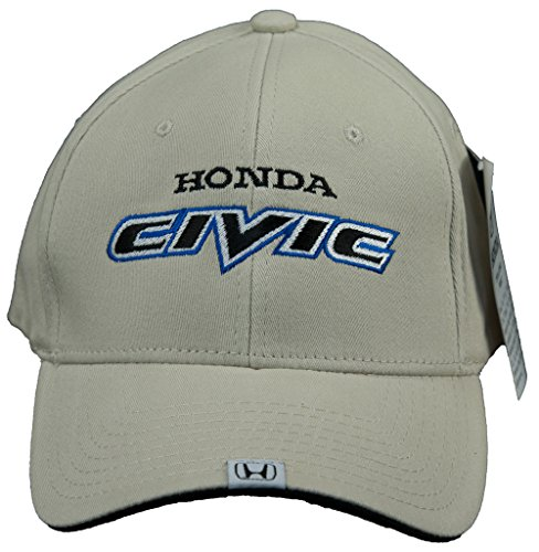 Honda Civic Hat (A&E Designs Honda Civic Hat Embroidered Logo Flex Fit Cap, Bone)