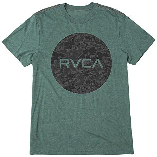 RVCA Men's Motors Fill Short Sleeve T-Shirt, Pine Tree, (Fill Short Sleeve T-shirt)